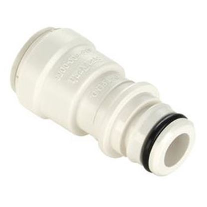 "Picture of Sea Tech 35 Series 1/2"" Female QC Copper Tube Off-White Polysulfone Fresh Water Straight Fittin 3575-10 69-7174"