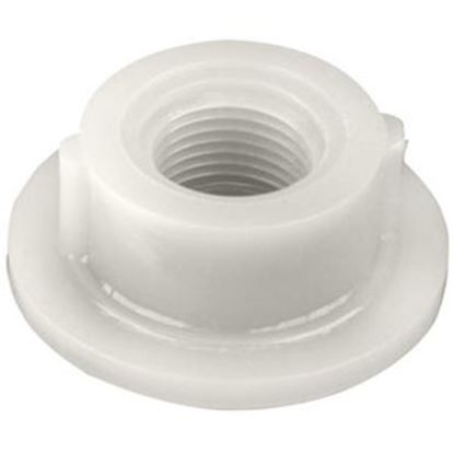 "Picture of Ameri-Kart  White ABS Plastic 3/8"" Raised Threaded Holding Tank Fitting 52C 69-8337"