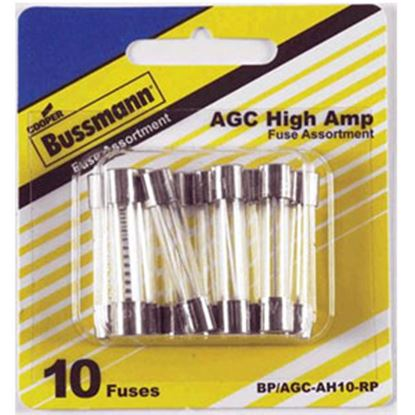 Picture of Bussman  10-Piece AGC Glass Fuse Assortment In Blister Pack BP/AGC-AH10-RP 69-8468