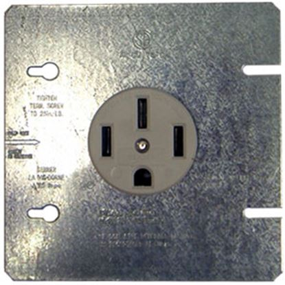 Picture of Parallax  Black 50A Outdoor/ Indoor Single NGFI Receptacle EAG1168BRV 69-9483