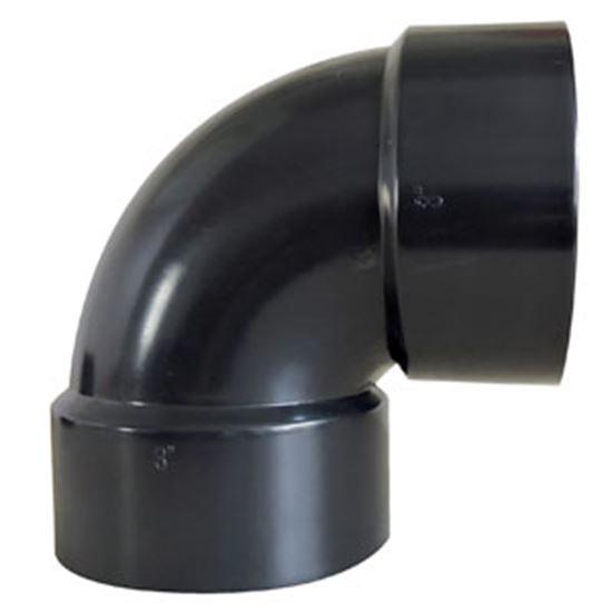 """Picture of Valterra  3"""" Hub Plastic 90Deg Short Turn Waste Valve Fitting D50-2878C 89-8352"""