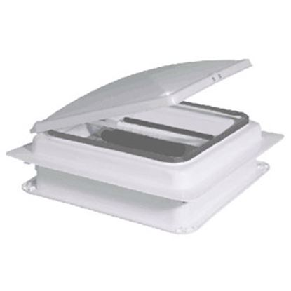 "Picture of Heng's  White 14""x14"" Metal Frame Roof Vent V971201-C1G1 94-3607"