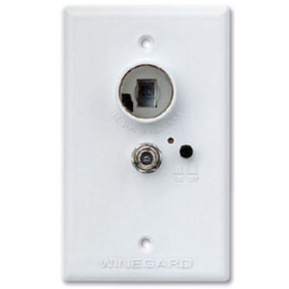 Picture of Winegard  White 12V Amplified Wall Plate Power Supply RA-7296 97-5776